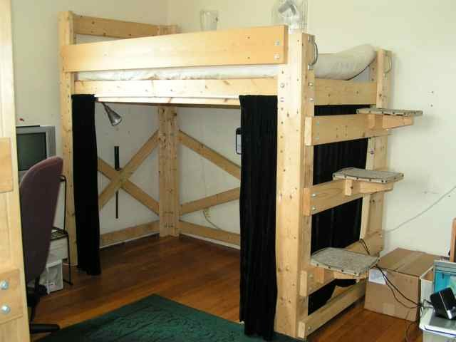 wooden bunk bed plans with stairs | scyci.com